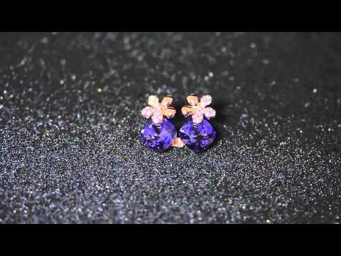 Venus Jewelry Store - Earring -Gold Plated Gem Diamond Jewelry (Jewellery) Earring