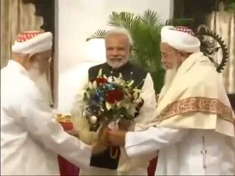 The Religious Head of Dawoodi Bohra Community His Holiness Syedna Mufaddal Saifuddin calls on PM