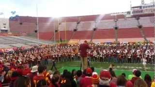 USC Vs ASU Post Match Marching Band Performance