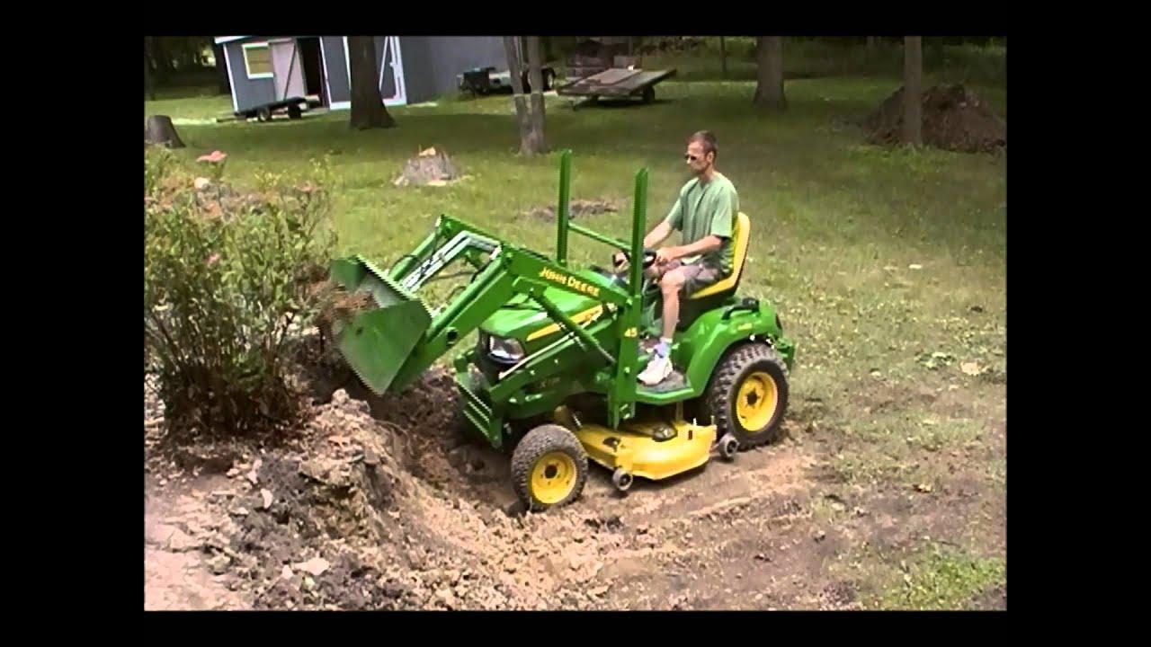 John Deere X729 45 Loader Demonstration Youtube