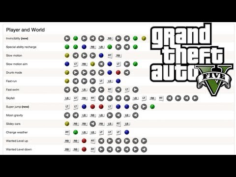 Gta v 5 all 31 cheats xbox 360 ps3 on gta 5 codes ps4