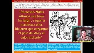 Estudio Bíblico 045 Mateo 20,1-16: Parábola De Los