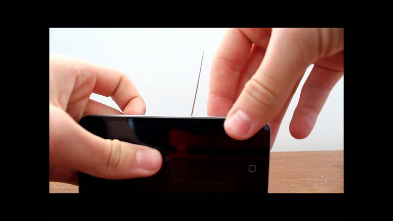 how to put sim card in iphone 4 without tray