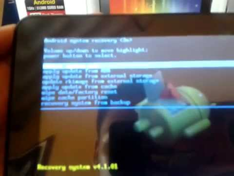Mi tablet no quiere entrar en modo recovery