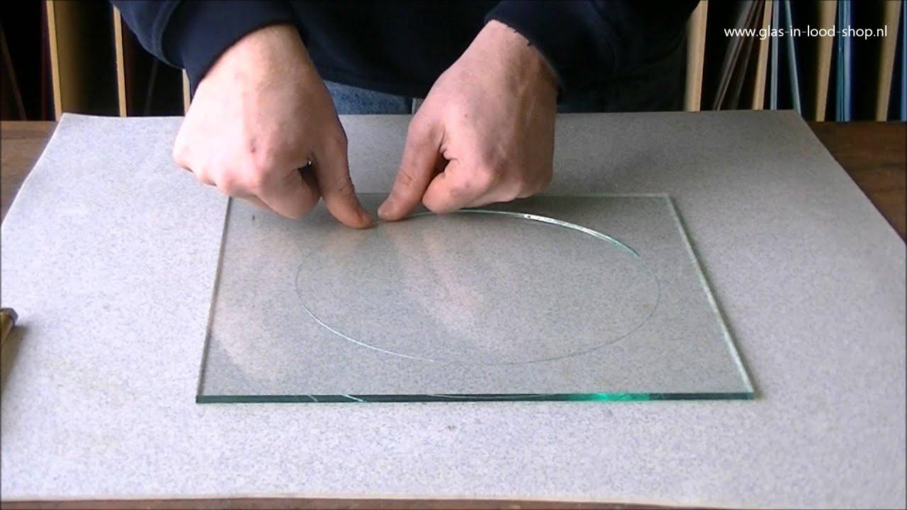 Rond snijden van glas cirkels   YouTube