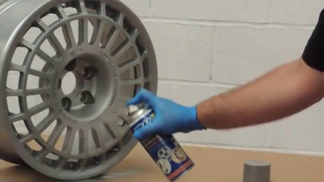 Como pintar con spray una llanta de aluminio con pintura - Pintura de aluminio ...