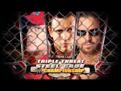 WWE Extreme Rules- John Morrison vs John Cena vs The Miz ...