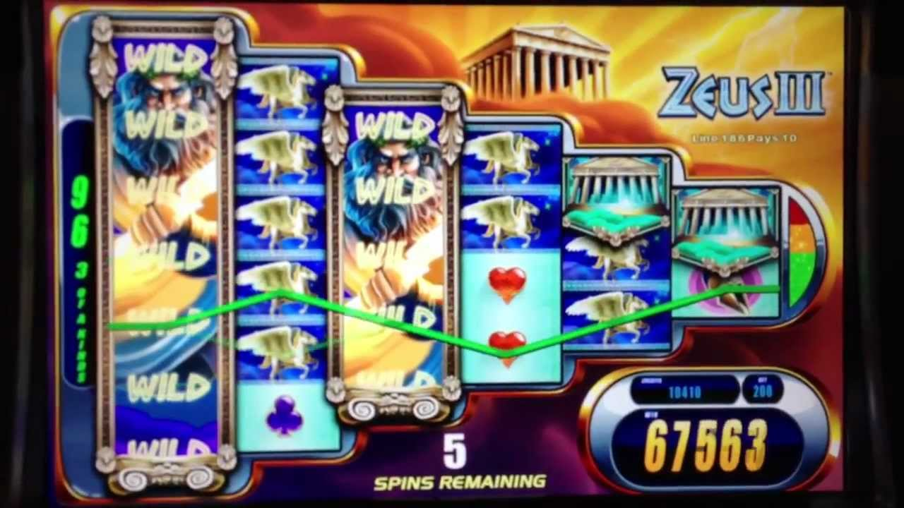 zeus slot machine wins