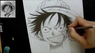 TUTORIAL:Como Desenhar Luffy/How To Draw Luffy