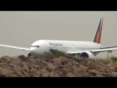 Philippines Airlines B777-300ER (RP-C7775) takeoff 34L Sydney International Airport HD
