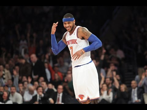 Carmelo Anthony vs Bobcats all 62 points