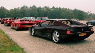 6x Ferrari Testarossa - Lovely Exhaust Sounds!