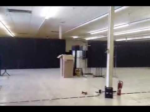Constructing Spirit Halloween retail store from an empty warehouse 2013