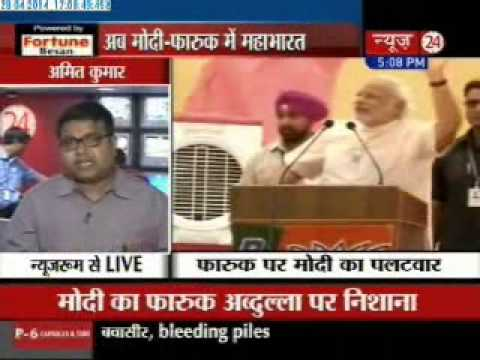 Omar takes Modi vs Farooq war forward, says Kashmiri Pandits fled Valley because of BJP