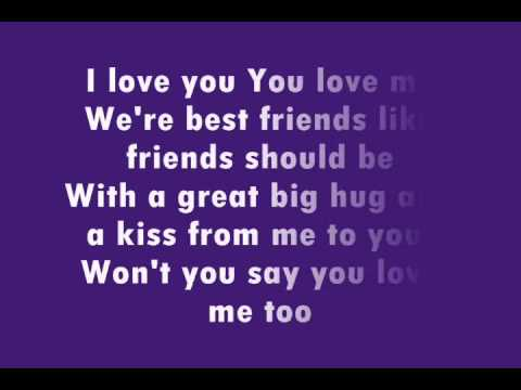 What are the lyrics to the barney song backwards? | Yahoo ...