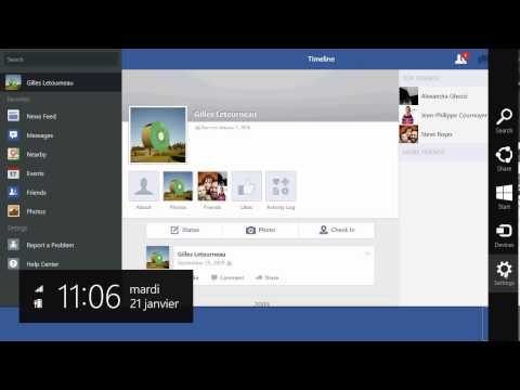 Windows 8.1 how to logout of facebook app