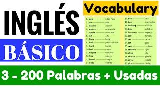 Lista De Las 200 Palabras Más Usadas En Inglés