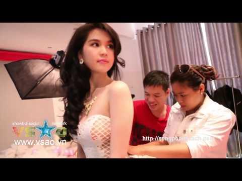 Buổi chụp hình quảng cáo đồ lót của Ngọc Trinh