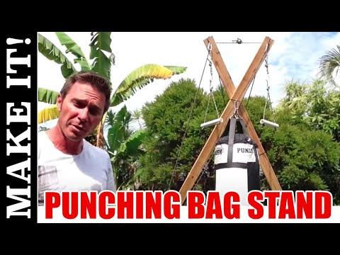how to build a heavy bag stand out of metal