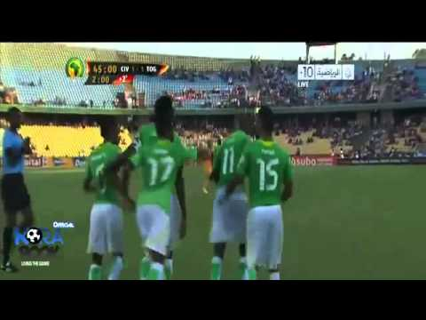 Ivory Coast Vs Togo 2 1   Goals and Highlight 22 01 2013 HD