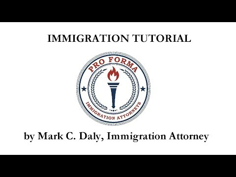 Immigration Lawyer Mark C. Daly: SXS Immigration Forms Children's Issues Video