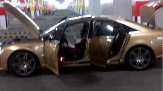 Audi A8 2007 modified to S8 in UAE -RealGold color videos
