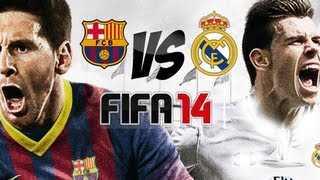 FIFA 14 Gameplay Barcelona FC VS Real Madrid
