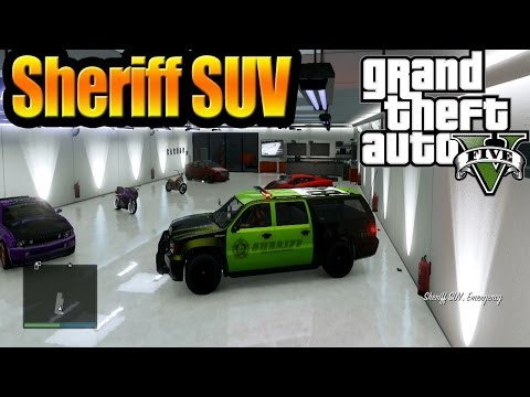 Grand Theft Auto V GTA 5) Online How To Get Sheriff SUV & Customize It [ Full HD ]