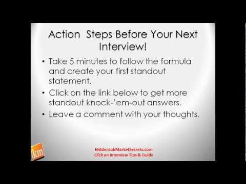 &quot;Interview Tips for Jobs&quot; Why Should We Hire You? The Great Answer