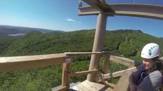 [ZipTrek Mont-Tremblant - Zipline - Tyrolienne] Video