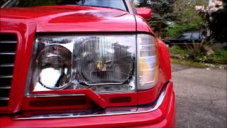 Mercedes W124 500e Hella Euro Headlight Installation