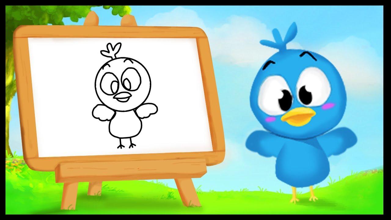 Comment dessiner un oiseau youtube - Oiseau facile a dessiner ...