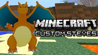 Minecraft: Become Charizard, Mario, and More! (Custom Steves Mod)