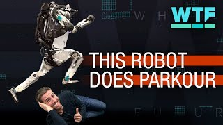 Boston Dynamics Atlas robot does parkour | What The Future