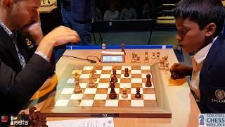 Karjakin vs Praggnanandhaa | Tata Steel Chess India 2018