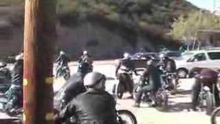 Classic British Motorcycles Leaving The Lookout Road House