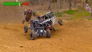 4 WIDE UTV KNOCK OUT RACING IS ABSOLUTELY AWESOME. MadRam11 Багги Видео. Buggy Video.
