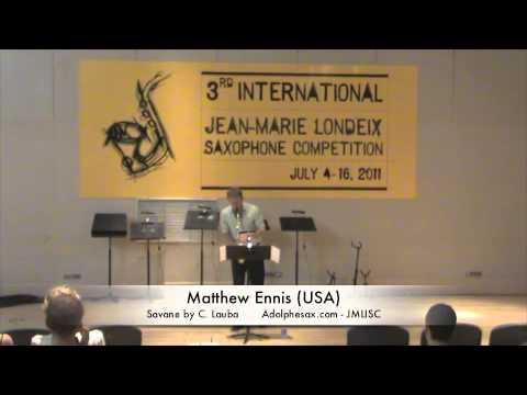 3rd JMLISC: Matthew Ennis (USA) Savane by C. Lauba