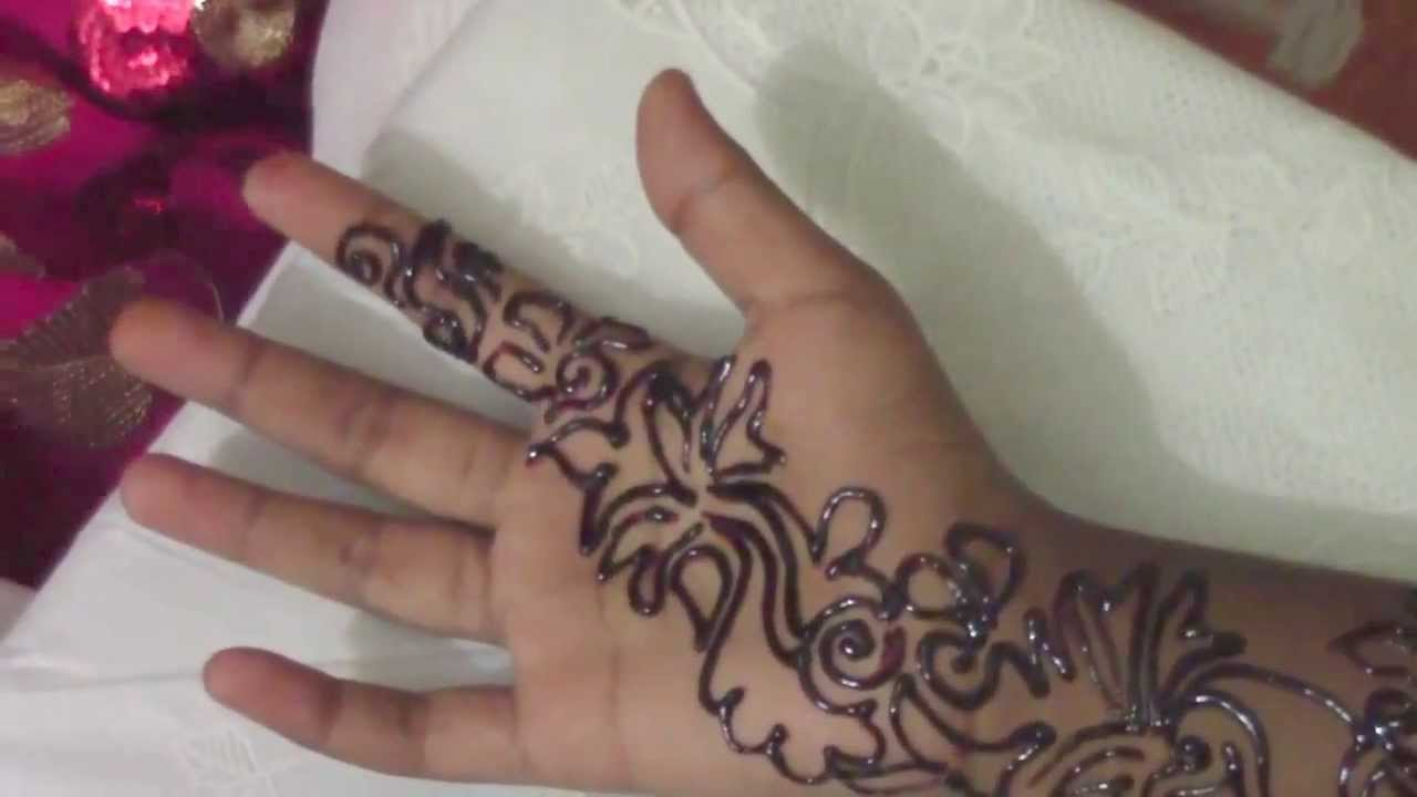 Mehndi Step By Step Tutorial : Arabic mehndi henna step by tutorial design