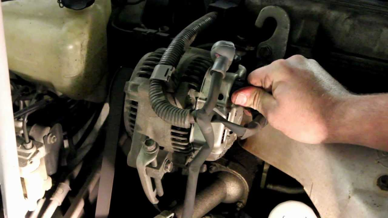 Remove Toyota Alternator