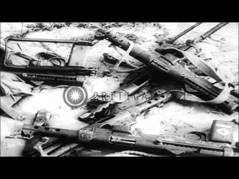 Death and destruction from Arab-Israeli conflict at Gaza strip. UN Secretary Gene...HD Stock Footage