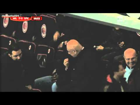 Clarence Seedorf on San Siro ~ AC Milan vs Speza  Coppa Italia  HD