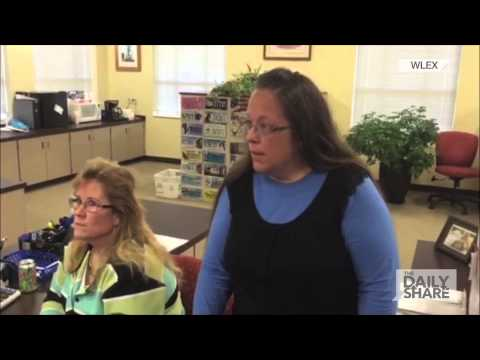 Caught On Cam: Kentucky clerk refuses to issue marriage license to same-sex couple