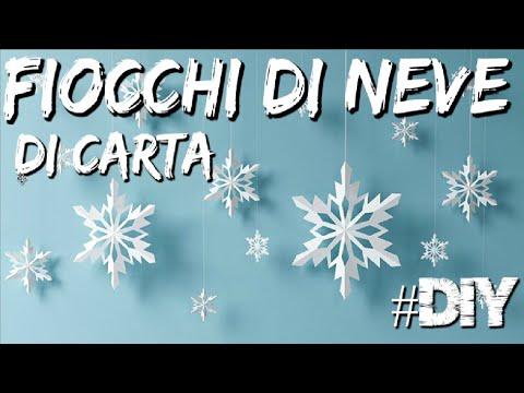 DIY - Fiocchi di Neve per finestre - Addobbi per Natale Fai Da Te