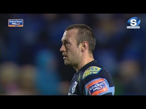 Gareth Davies Try Cardiff Blues v Leinster 20th Feb 2014
