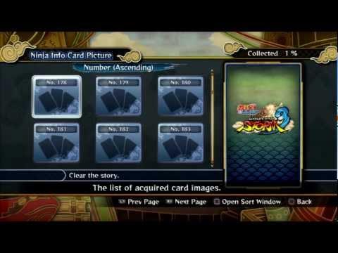 Ultimate Ninja Storm 3: All Passwords