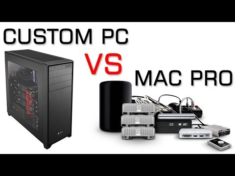 2013 Apple Mac Pro 8 Core (MKBHD) VS Custom PC | Benchmarks