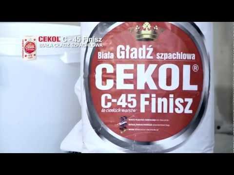 Cekol - Finiszowe szpachlowanie CEKOL C-45 Finisz
