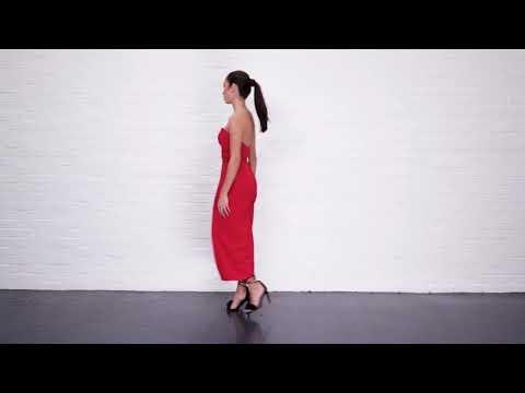Joe's Jungle Harper red culotte corseted jumpsuit