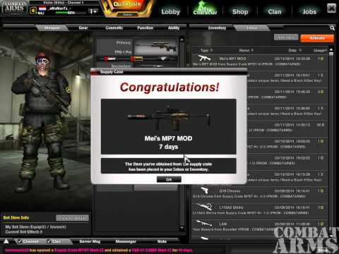 Combat Arms Random CAE-UPLOUD #9 MEI'S Mp7 MOD 7days !!!